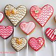 バレンタインのハートクッキーポップ