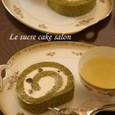 抹茶ロール(栗の緑茶とともに)