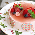 いちご&バニラのムース(カシスムースレシピの苺バージョン)