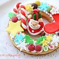 クリスマスリースクッキー2014