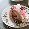 苺とラズベリーのドームクリスマス
