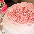 お花の苺ケーキ