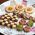 クッキー(市松模様、フラワーフロランタン、ディアマン(抹茶&苺)、バニラ&ショコラ)