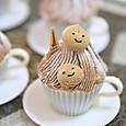 ティーカップのパリ風モンブラン