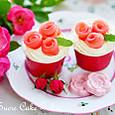 薔薇のカップケーキ