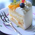 オレンジのショートケーキ