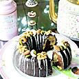 チョコレートと木の実のリングケーキ
