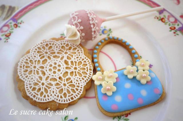 レースクッキー、アイシングクッキー、ケーキポップ