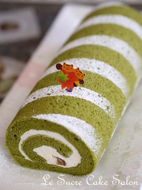 抹茶と和三盆のロールケーキ