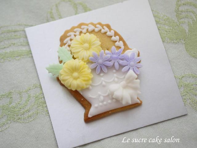 アイシングクッキー(花かご1)