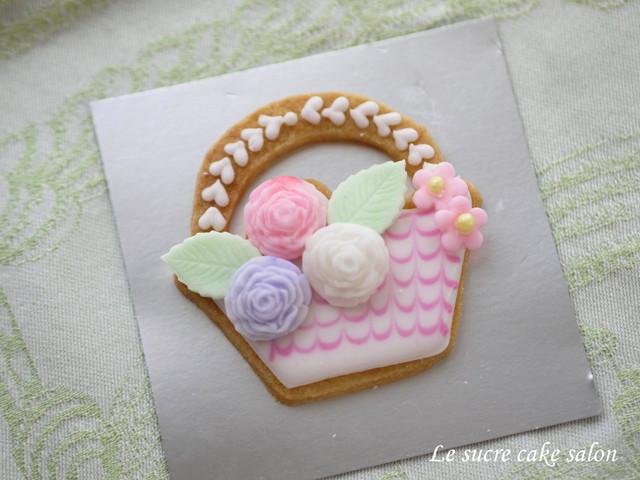 アイシングクッキー(花かご2)